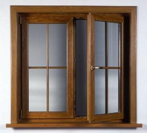 درب و پنجره لمینت بلوطی تیره