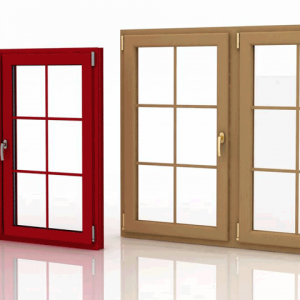درب و پنجره لمینت بلوطی روشن